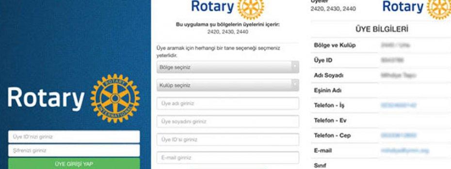 Rotary Kulübü IOS & Android Aplikasyonu